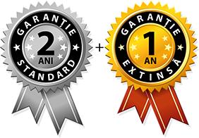 2 ani garantie standard + 1 an garantie extinsta