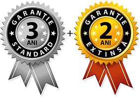 3 ani garantie standard + 2 ani garantie extinsta